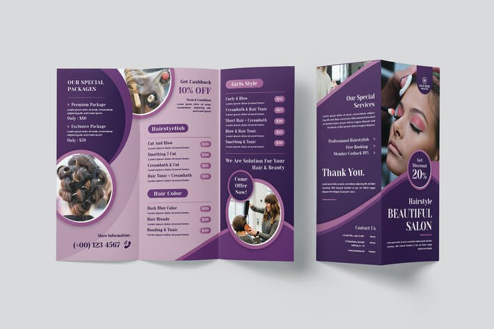 Beautiful Salon Trifold Brochure