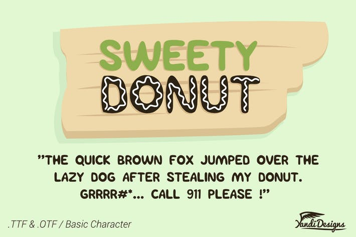 Thumbnail for Sweety Donut Fonts