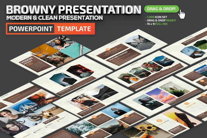 Thumbnail for Browny Powerpoint Presentation Template