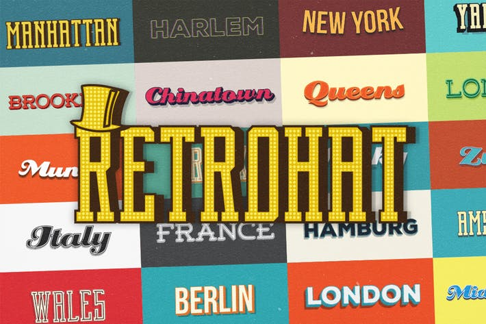Thumbnail for Retrohat™ Graphic Styles