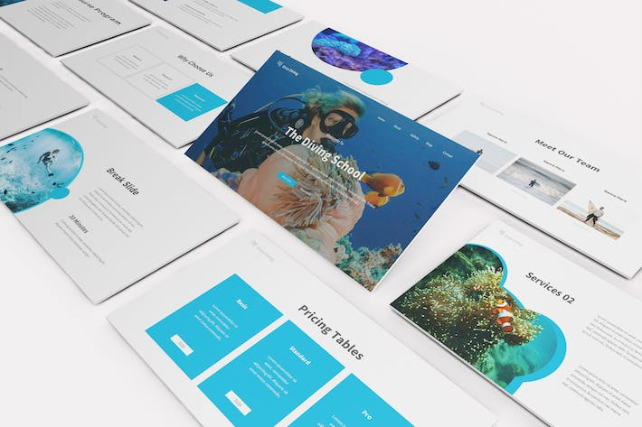 The Dive Google Slides Template