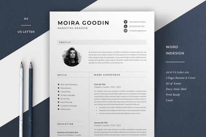 Thumbnail for Resume Template | Moira