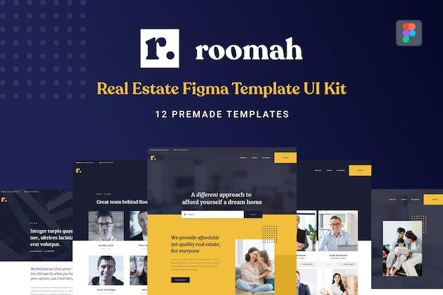 Roomah - Real Estate Agent Figma UI Kit Template