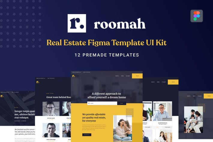 Thumbnail for Roomah - Real Estate Agent Figma UI Kit Template