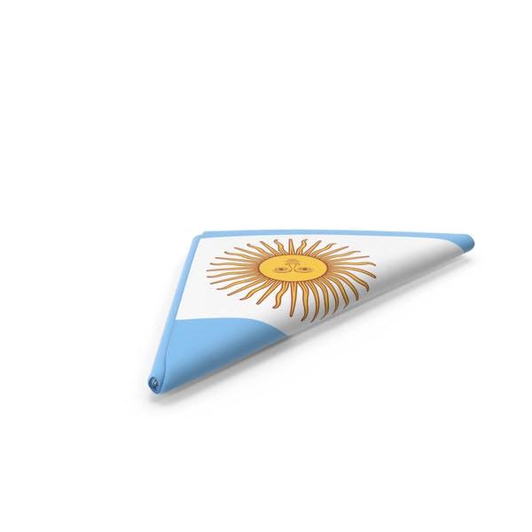 Flag Folded Triangle Argentina