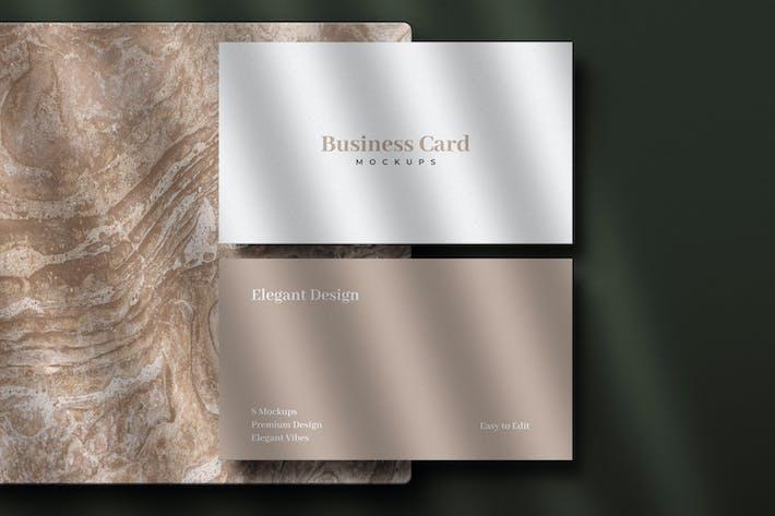 Thumbnail for 8 Premium Business Card Mockups