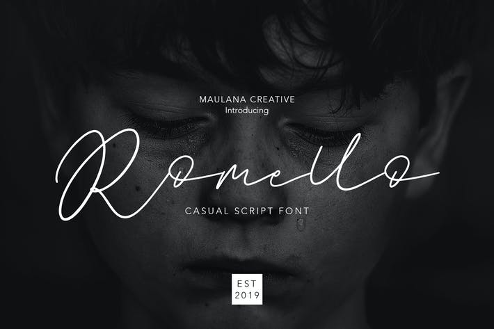 Thumbnail for Romello Brush Signature Font