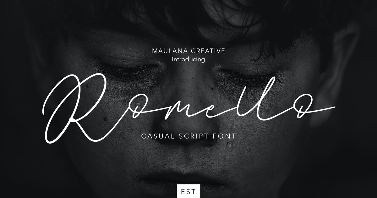 Download Romello Brush Signature Font by maulanacreative