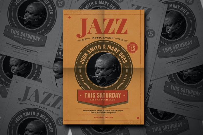 Thumbnail for Vintage jazz Flyer