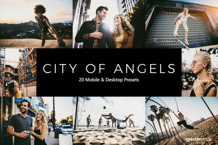 Thumbnail for 20 City of Angels Lightroom Presets & LUTs