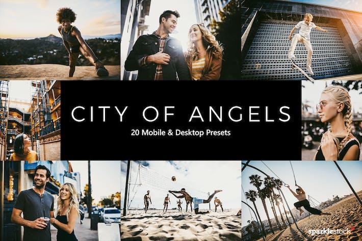 Thumbnail for 20 Preajustes y LUT de City of Angels Lightroom