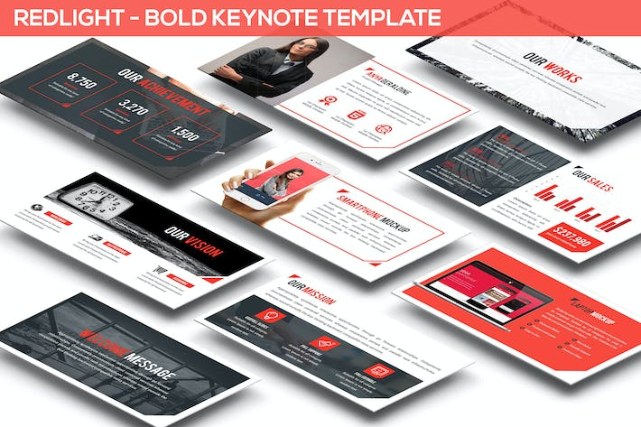 Redlight - Bold Keynote Template