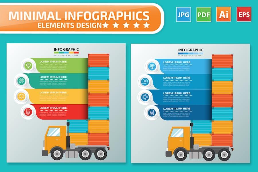 Logistic Infographics design