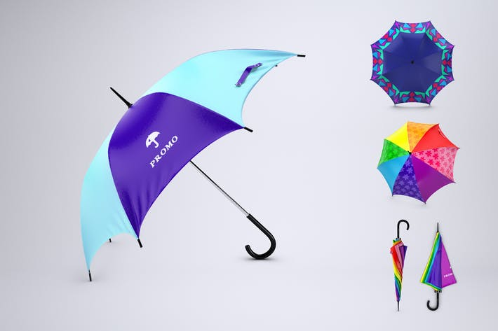 Thumbnail for Promotional Umbrella Mock-Up