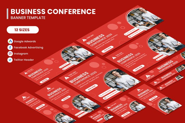 Thumbnail for Business Conference Google Adwords Banner Template