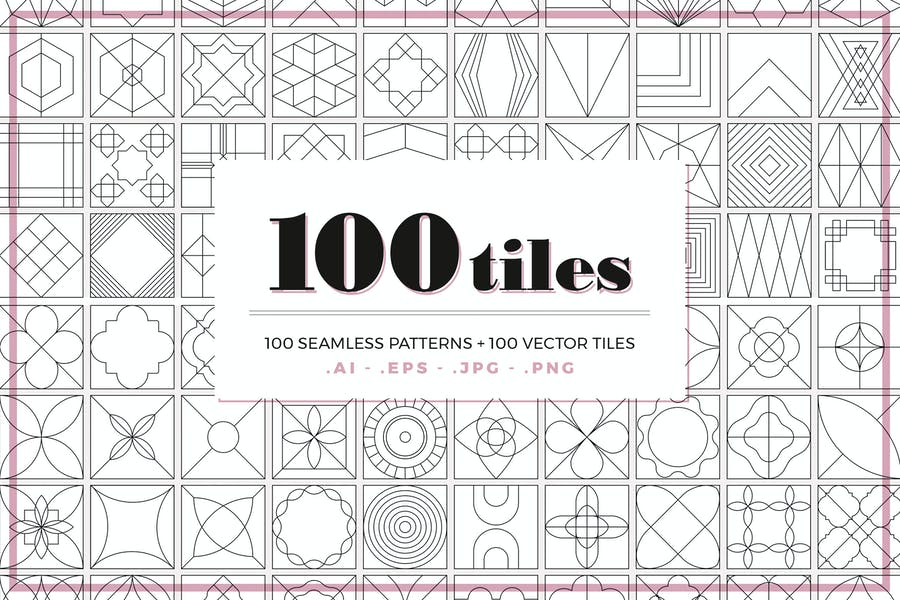 100 Tiles Patterns - product preview 0