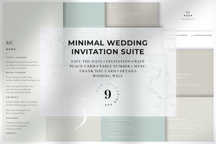 Thumbnail for Minimal Wedding Invitation Suite