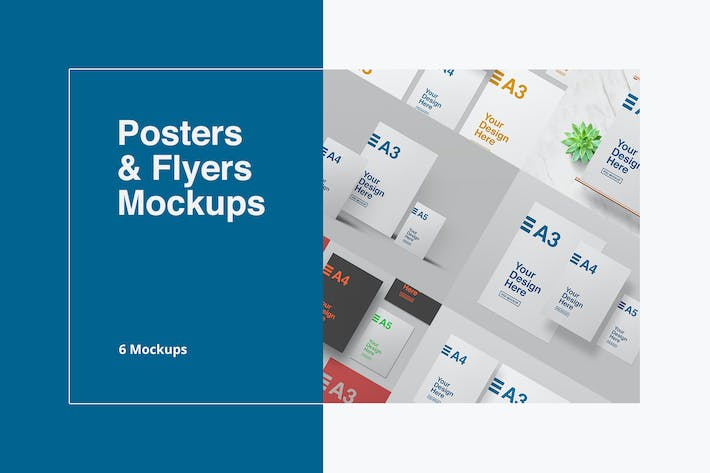 Thumbnail for Posters & Flyers Mockups
