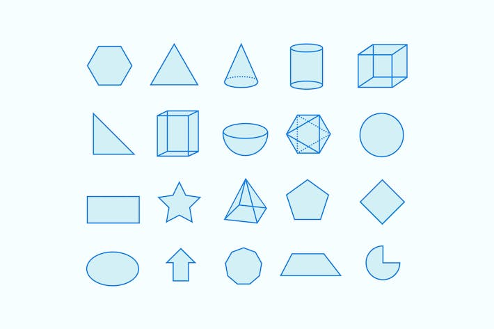 Thumbnail for 20 Shape and Geometry Icons