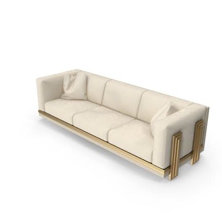 Three Seater Beige Sofa