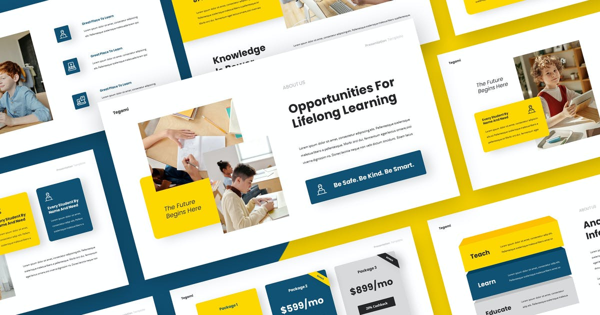 Download TEGAMI - Education Keynote Template by rgbryand