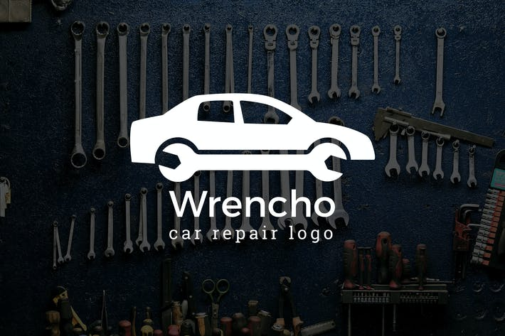 Thumbnail for Wrencho : Car Repair or Auto Repair Logo