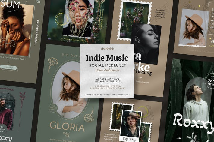 Indie Music Instagram Template Calm Theme
