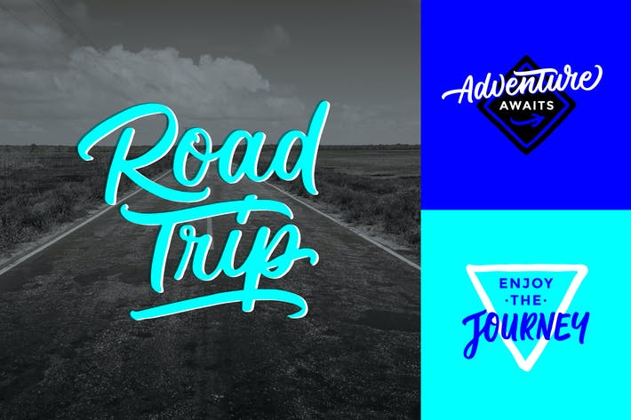 Thumbnail for Road Trip & Adventure Lettering Overlays