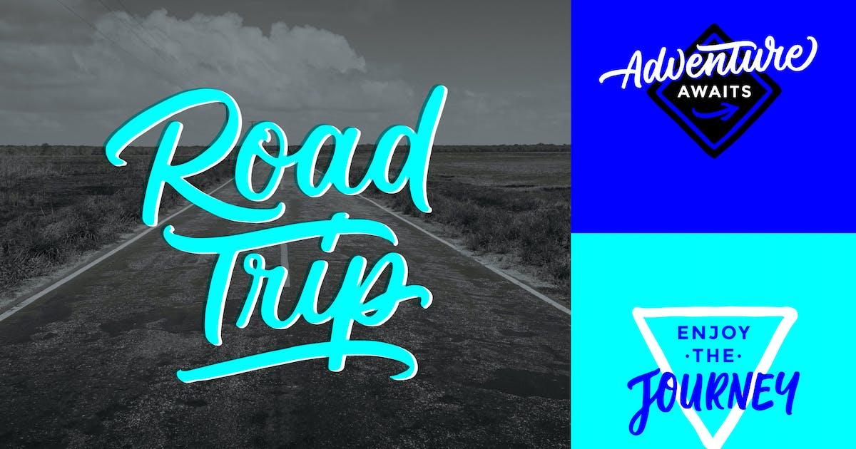 Download Road Trip & Adventure Lettering Overlays by wjfranklin