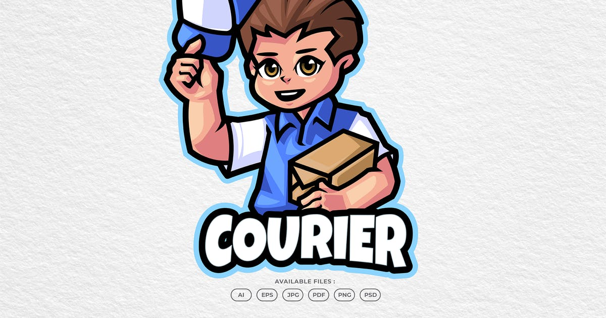 Download Courier Mascot by yogaperdana7