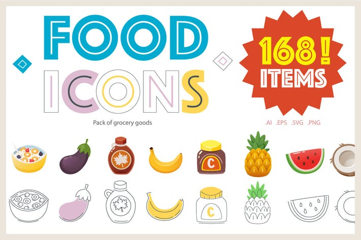 Cover Image For Food Icons