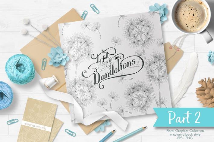 Thumbnail for Нежные цветочные линии Фоны