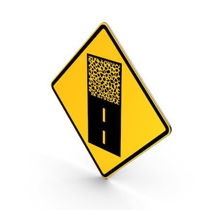 Pflaster endet das aufgesetzte Verkehrszeichen