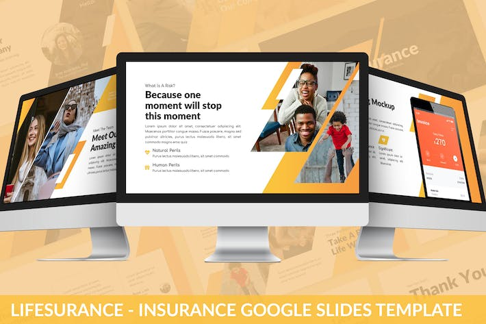 Thumbnail for Lifesurance - Versicherung Google Slides Vorlage