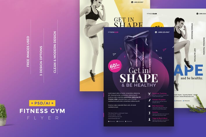 Thumbnail for Fitness Gym Flyer Template