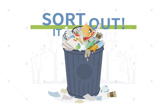 Thumbnail for Sort it out - flat design style illustration