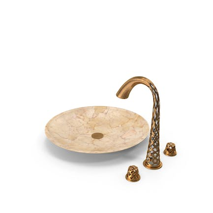 Copper Faucet with Sink