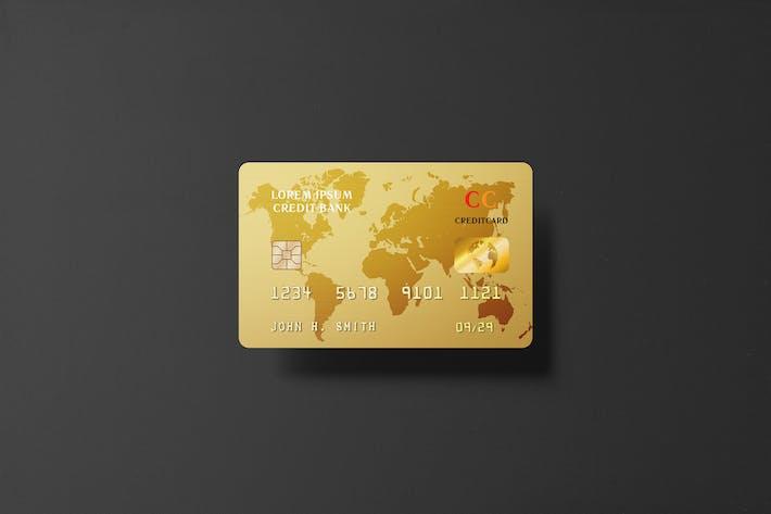 Thumbnail for Golden Credit Card Mockup