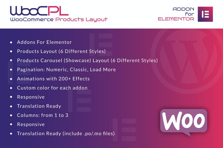 Thumbnail for WooCommerce Produkte Layout für Elementor