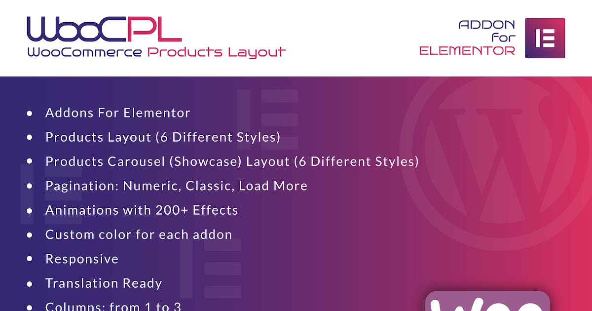Download WooCommerce Products Layout for Elementor by ad-theme