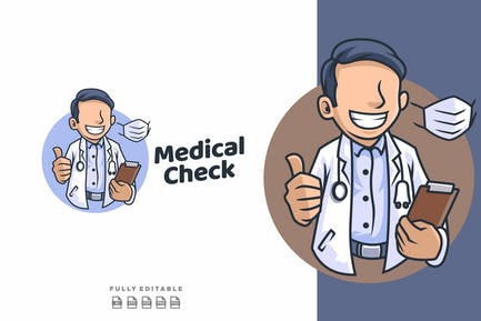 Doctor Medic - Medical and Healthcare Mascot Logo