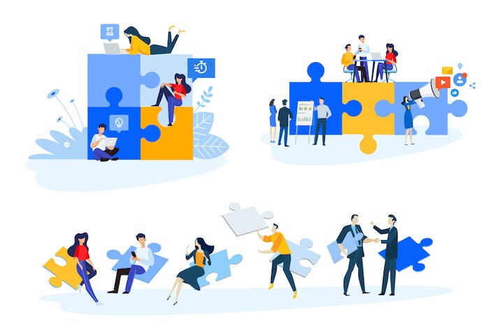 Thumbnail for Flat Design Concepts of Business Strategy