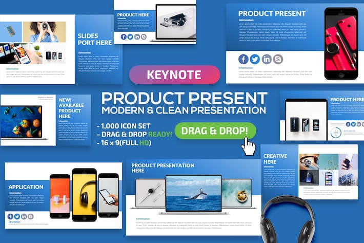 Cover Image For Product Keynote Presentation
