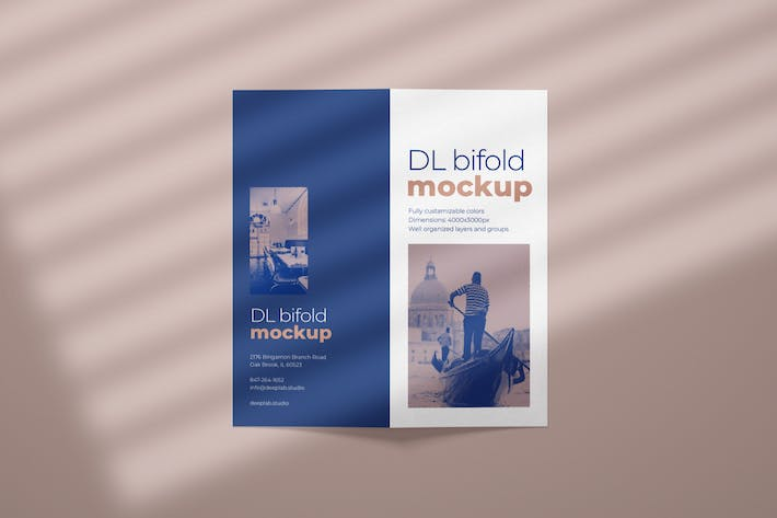 Cover Image For DL Bifold Brochure Mockup