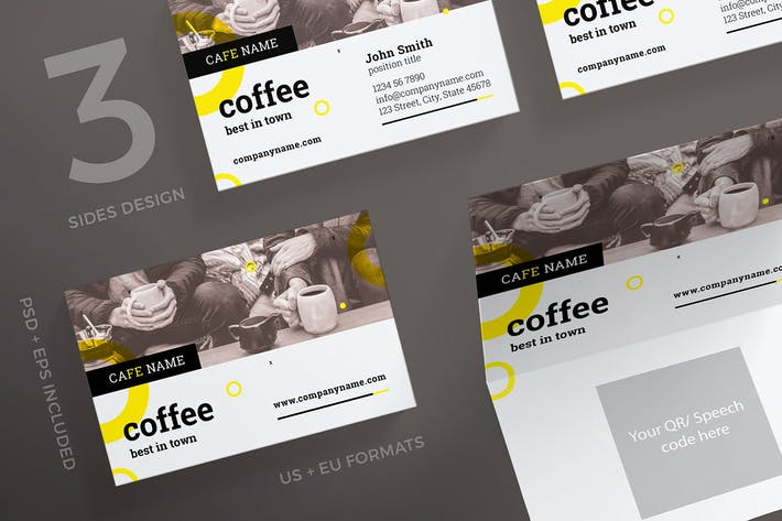 Thumbnail for Coffee Shop Business Card Template