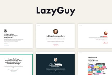 LazyGuy - Personal Landing Page Template