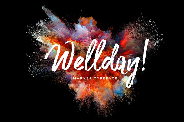 Thumbnail for Wellday Brush Font