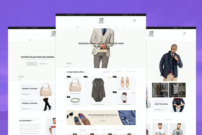 Thumbnail for Trendify - Fashion eCommerce PSD template