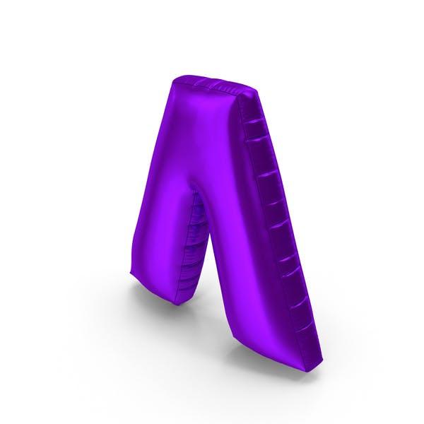 Foil Balloon Circumflex Purple