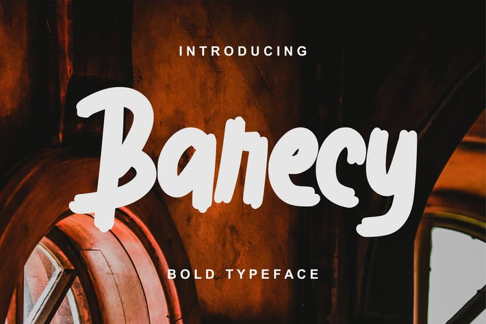 Thumbnail for Barecy   Bold Typeface Font